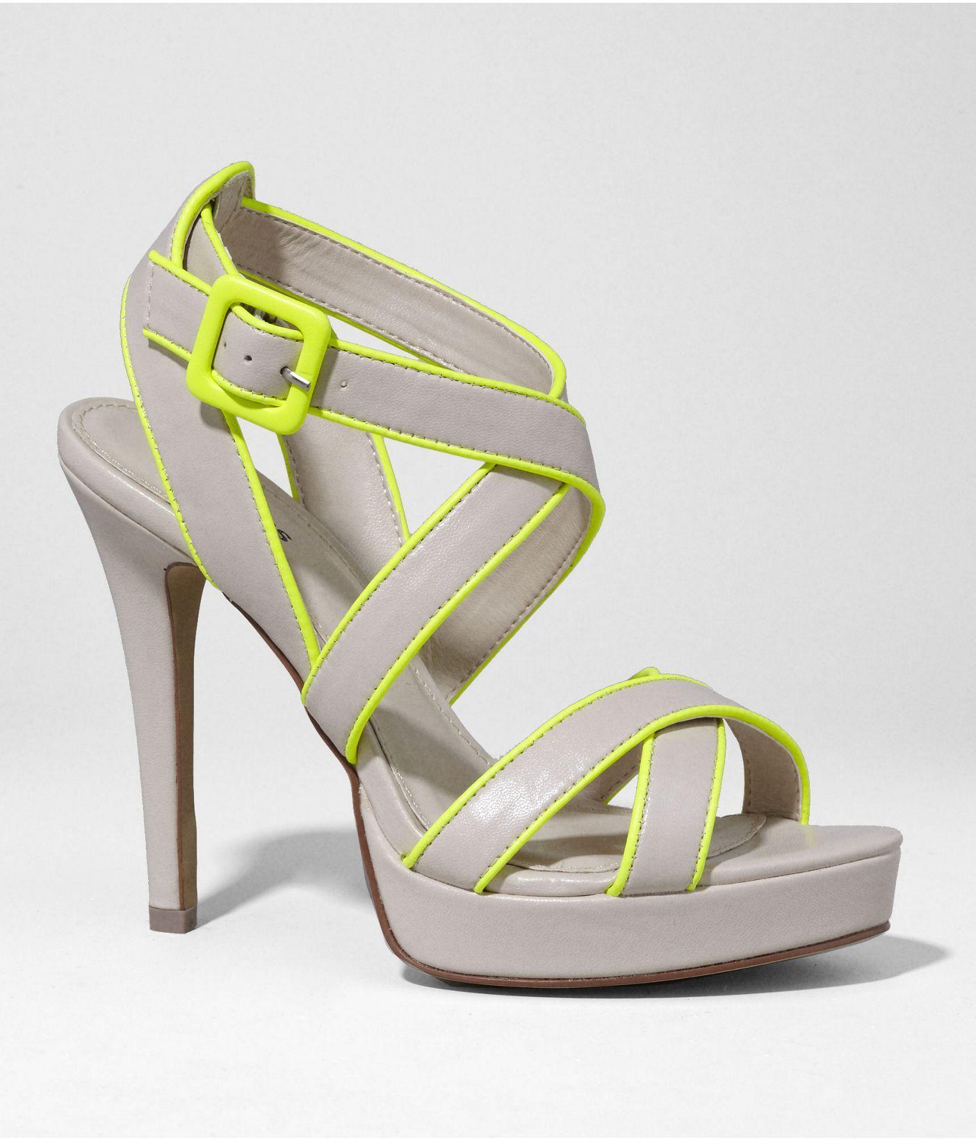 86612fdc4df NEON EDGED MULTI-STRAP PLATFORM SANDALS | Express | Fashion ...
