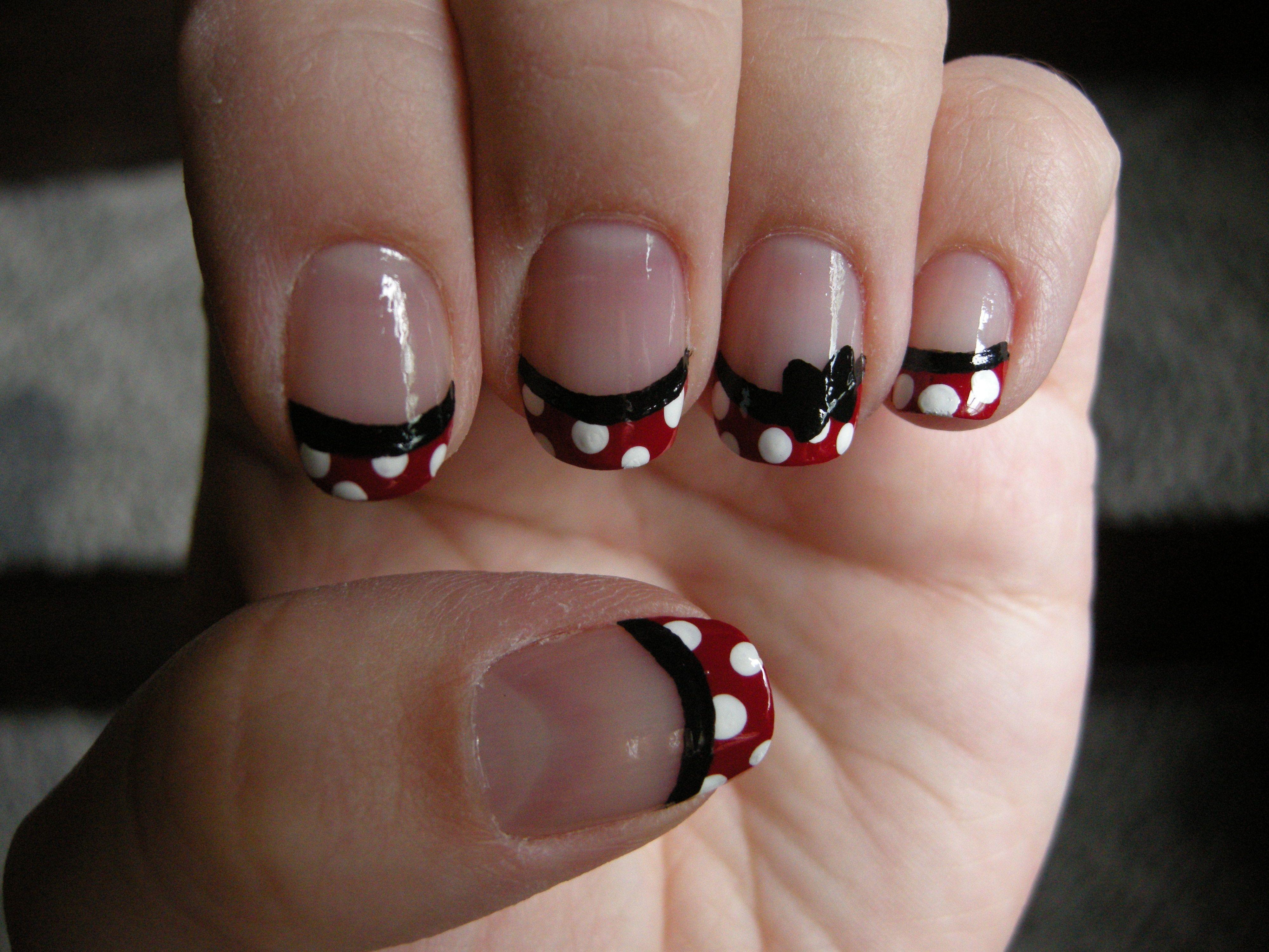 Minnie Mouse Nails   Uñas!!   Pinterest   Peinados