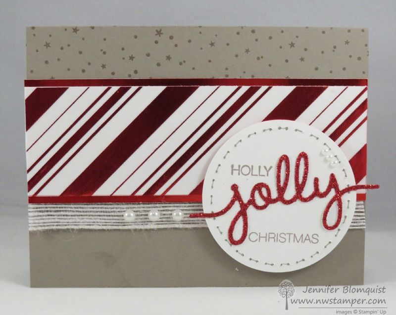 Have a Holly Jolly Christmas–Fun Card with Foiled Vellum, Glimmer Paper, and More!   Northwest Stamper
