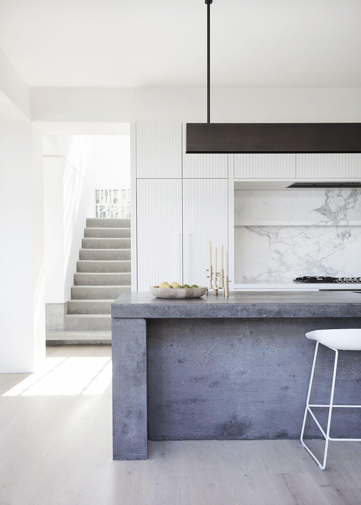 The Concrete Interiors Trend Adore Home Magazine Minimalist Kitchen Design Modern Kitchen Design Minimalist Kitchen