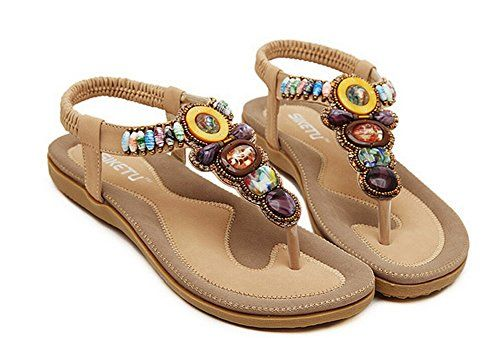 3da756f21fc JiYe Fashion Shoes Women s Gemstone Casual Sandals Summer Shoes