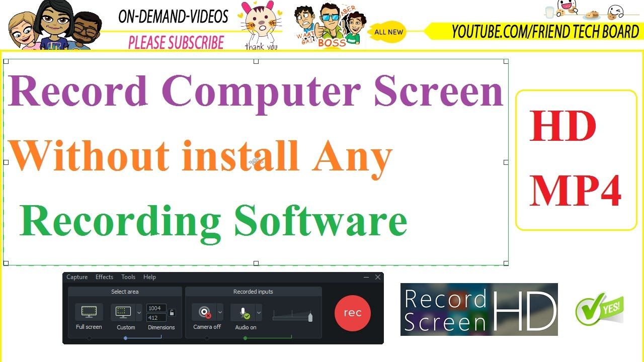 How to record computer screen without any recording