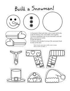 the snowman colouring pages google search build a snowmansnowman craftschristmas