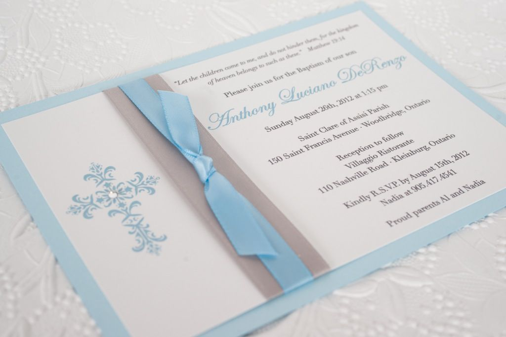 Ingledew Invites - Baby Boy Baptism Invitation First Communion - sample baptismal invitation for twins