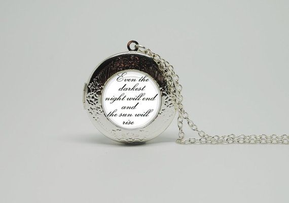 Silver Glass Locket Necklace with B/W Les by thatsreallyclassic, $19.90