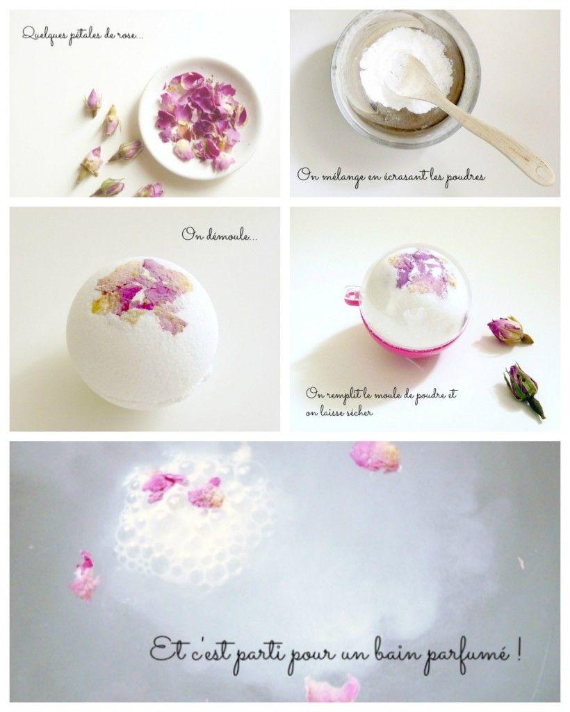 diy une bombe de bain aux p tales de rose www. Black Bedroom Furniture Sets. Home Design Ideas