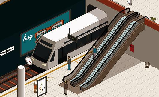 Subway Train Anil Yanik Isometric Metro Train Illustration Isometric Illustration Isometric Design