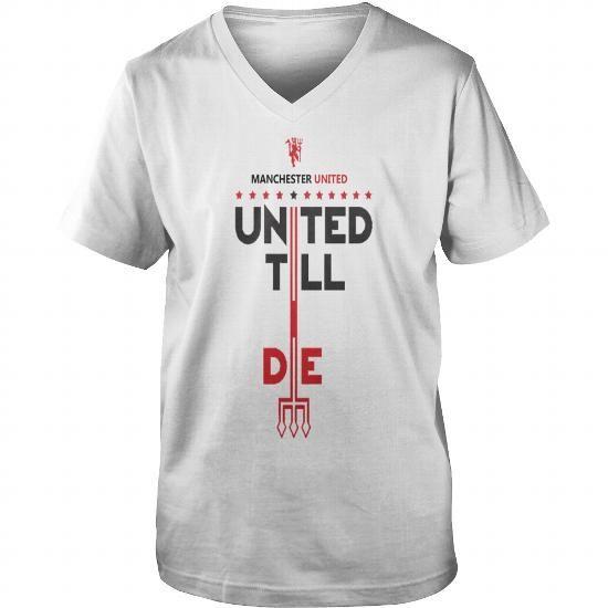 43a23a3d407 Manchester United Merchandise - Mens Premium T-Shirt Guys V-Neck