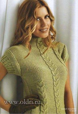 стильная женская кофточка спицами Knitting 1 вязание ручное