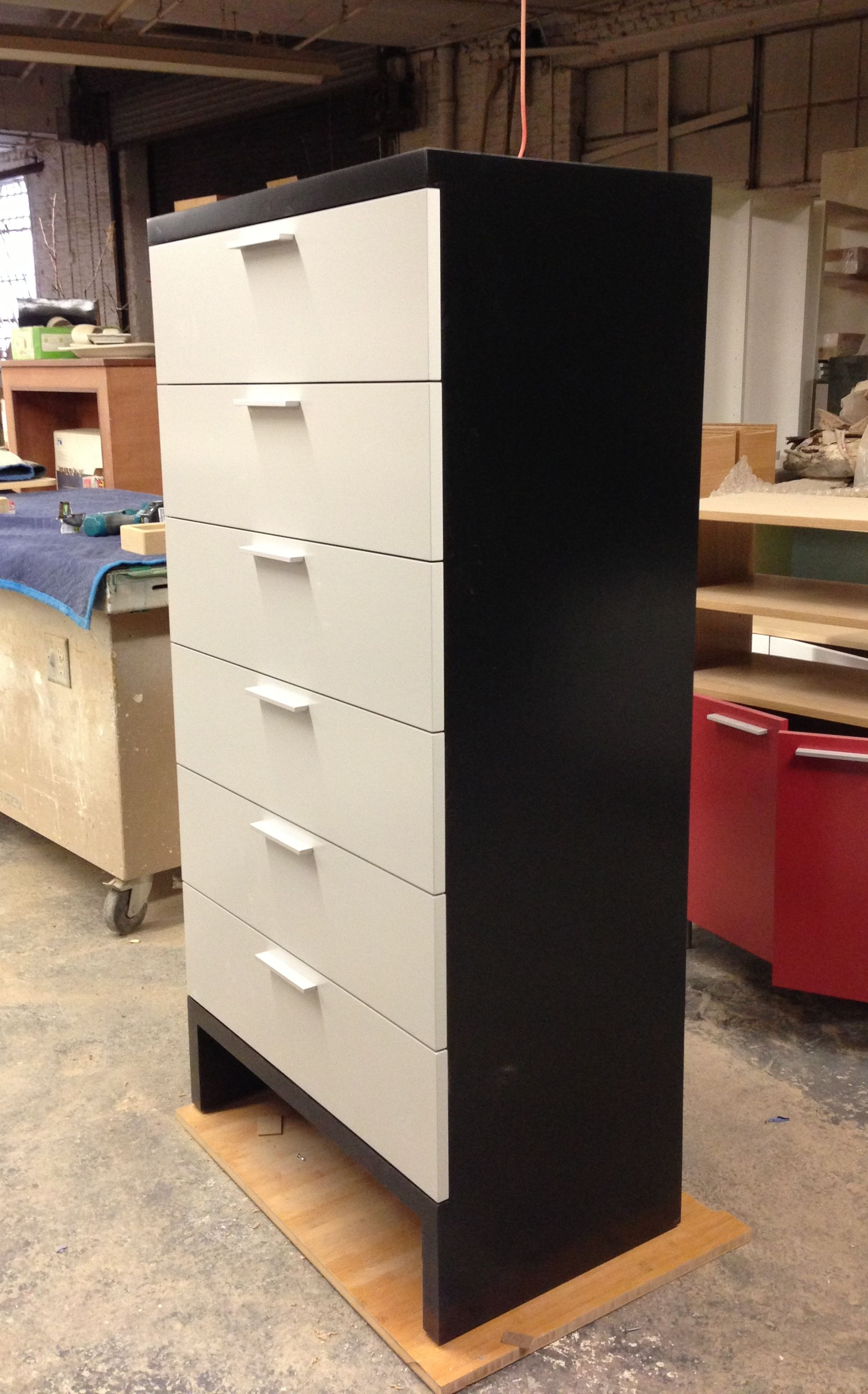 dark grey 6 drawer dresser