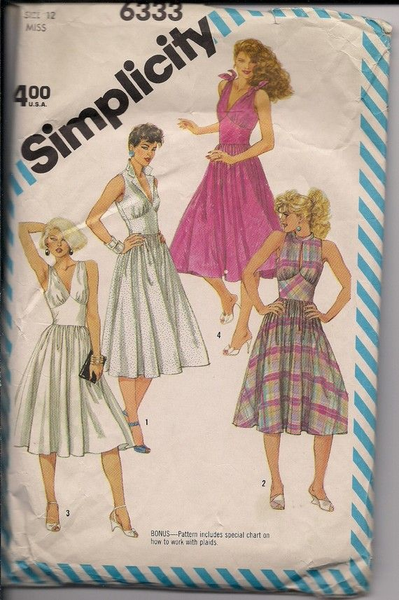 Fifties patterns on Etsy $ 3.25