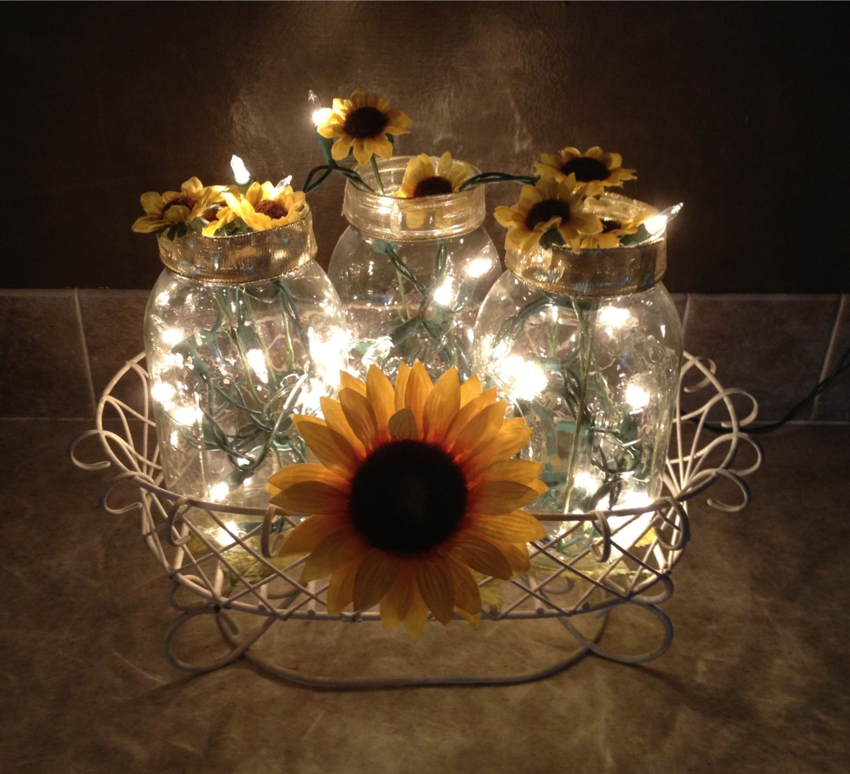 i was inspired to make this from another pin here is my version for my sunflower themed kitchen on kitchen ideas decoration themes id=85131