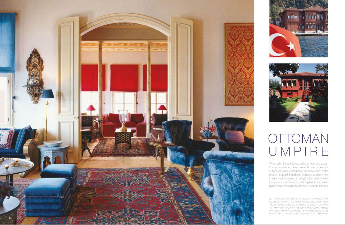 Moroccan Style Living Room Uses Bold Colors In The