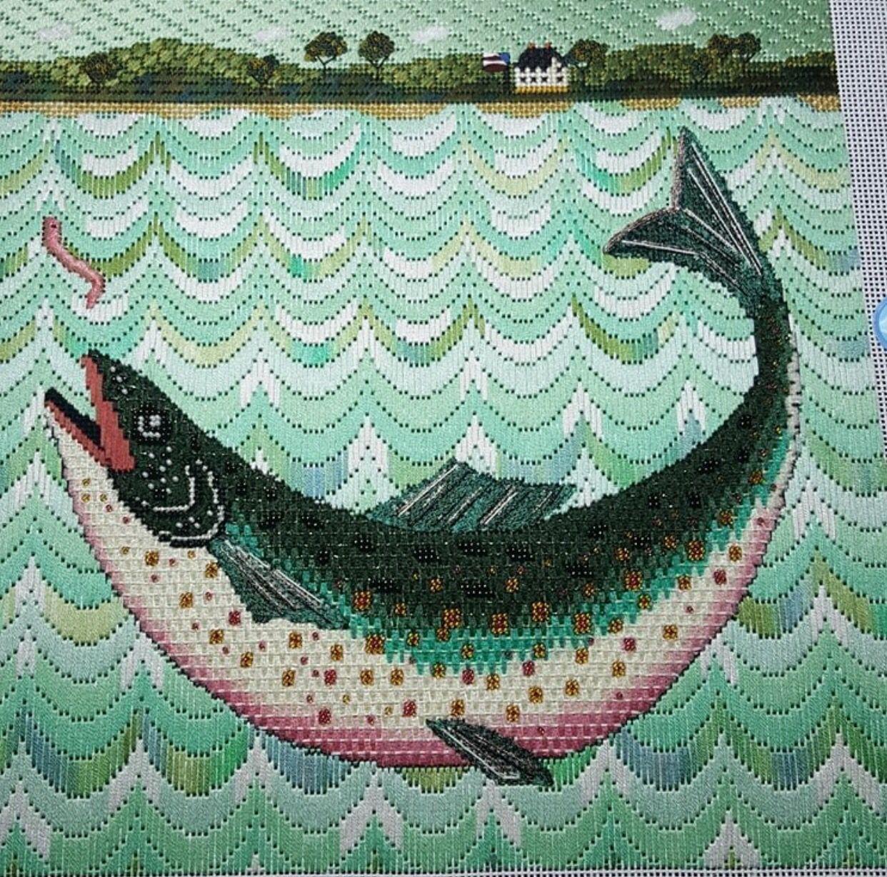 Stitch on fish