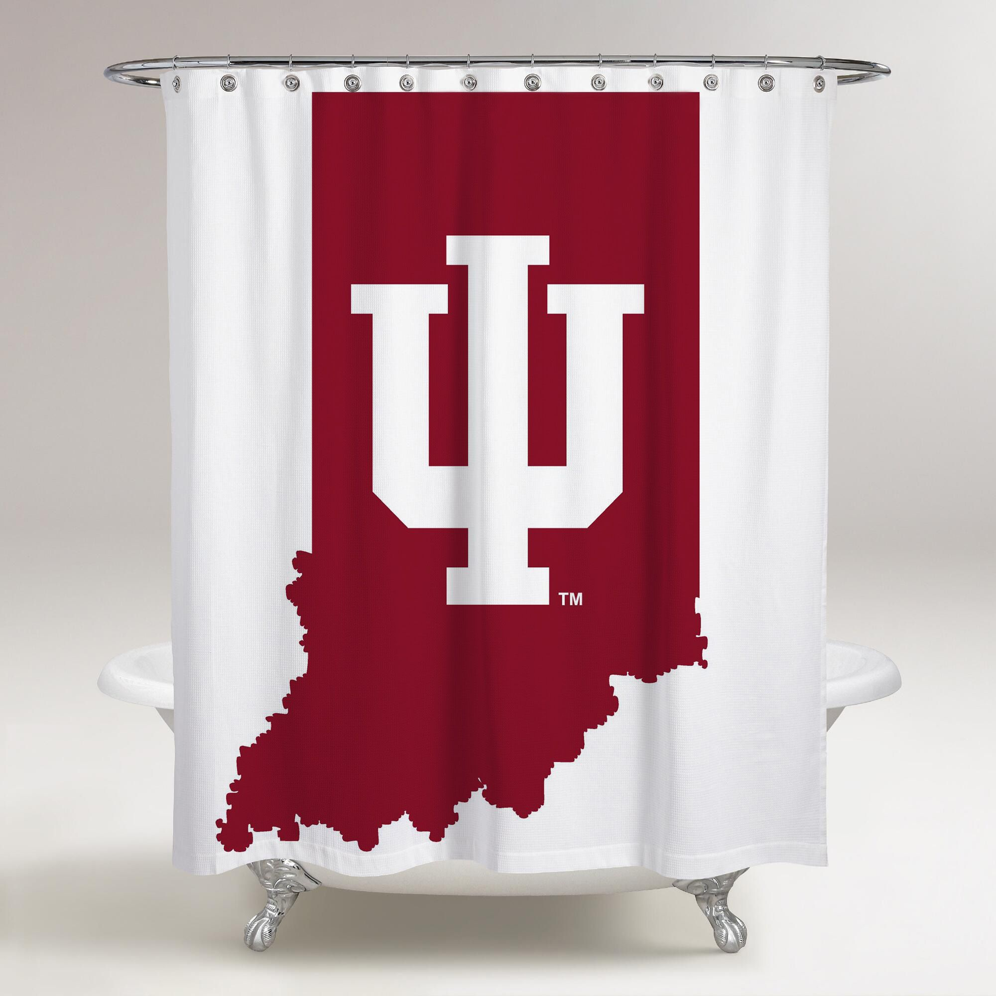 Indiana Hoosiers Logo White Background Printed Shower Curtain