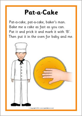 Pat A Cake Rhyme Sheet Sb10918
