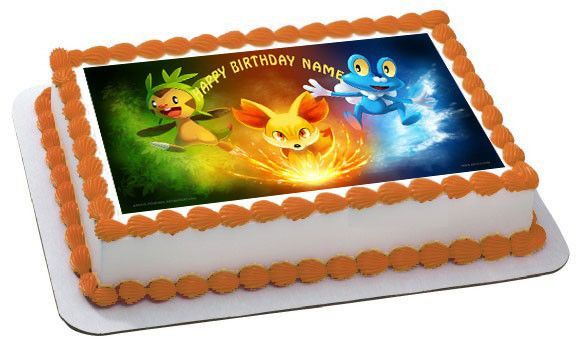 Pokemon 1 Edible Birthday Cake Topper OR Cupcake Topper Decor
