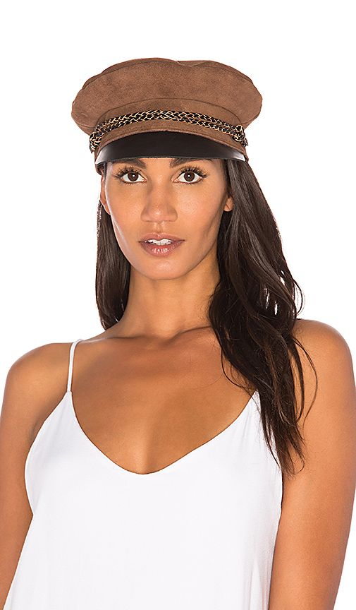 8bdbdb2c73eab Shop for Brixton Kayla Cap in Brown and Black at REVOLVE. Free 2-3 day  shipping and returns