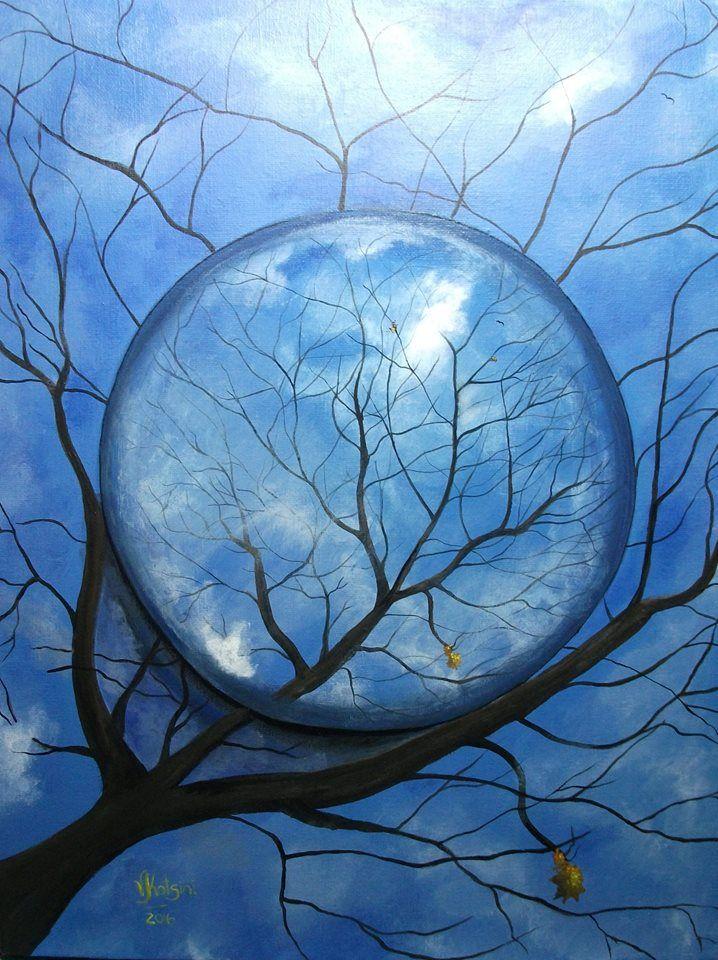 Catching The Fall © Acrylic 46 x 36 cm