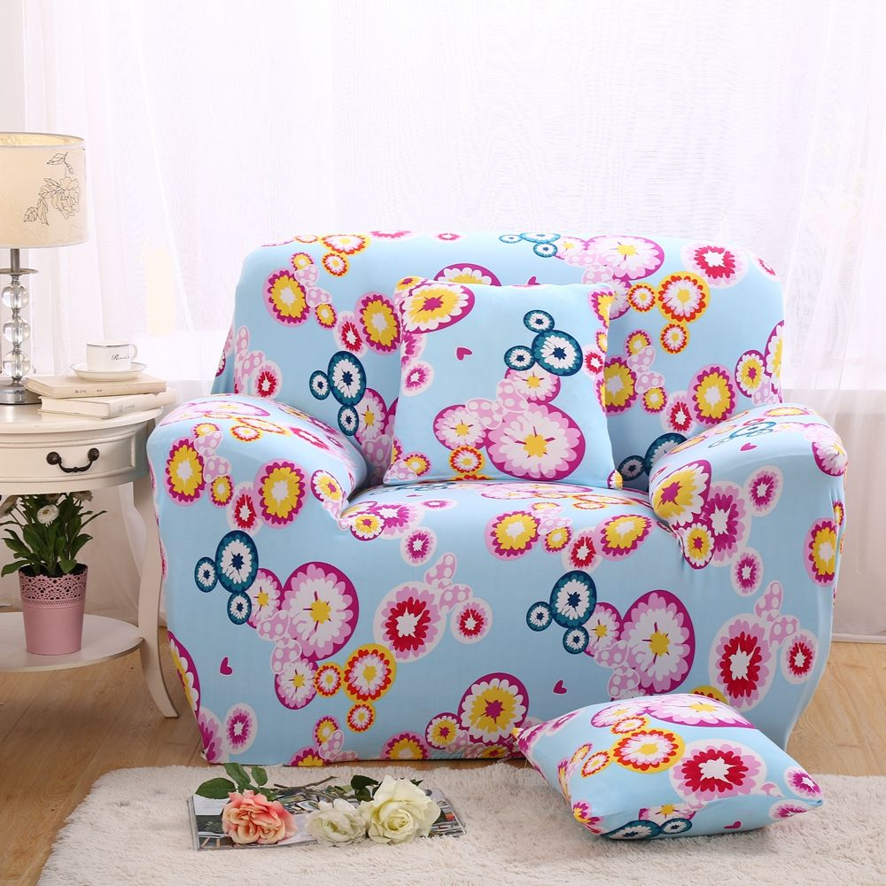 1 4 Seater Colorful Modern Sofa Covers Slipcovers Corner Sofa Cover Printed Sofa Covers Bright Flowers Reactive Print Pastoral Com Imagens Pastores