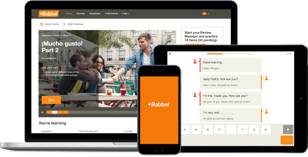 Babbel demo Languages online, Babbel languages learning