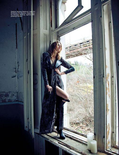 Moda & Rock 'n' Roll  Simona Andrejic by Milos Nadazdin forElleSerbiaMarch 2013