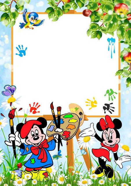 png frame kids frame png Children frame for photo Micky and Donald ...