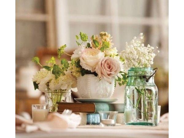 Centro mesa para boda con libros en base de cerámica Centros de