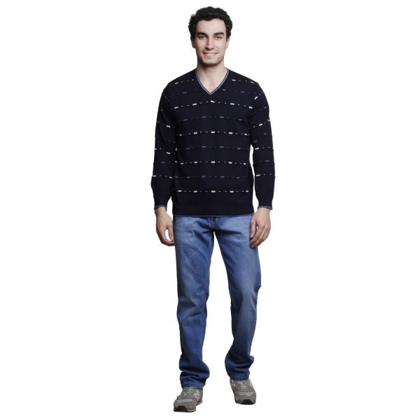 Buy MSG Navy V Neck Sweater Online at cheap prices from Shopkio.com: India`s best online shoping site
