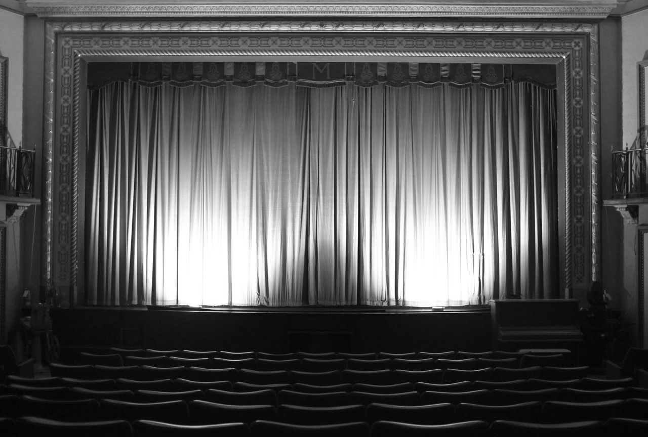 Theatre Curtains Blacka Nd White