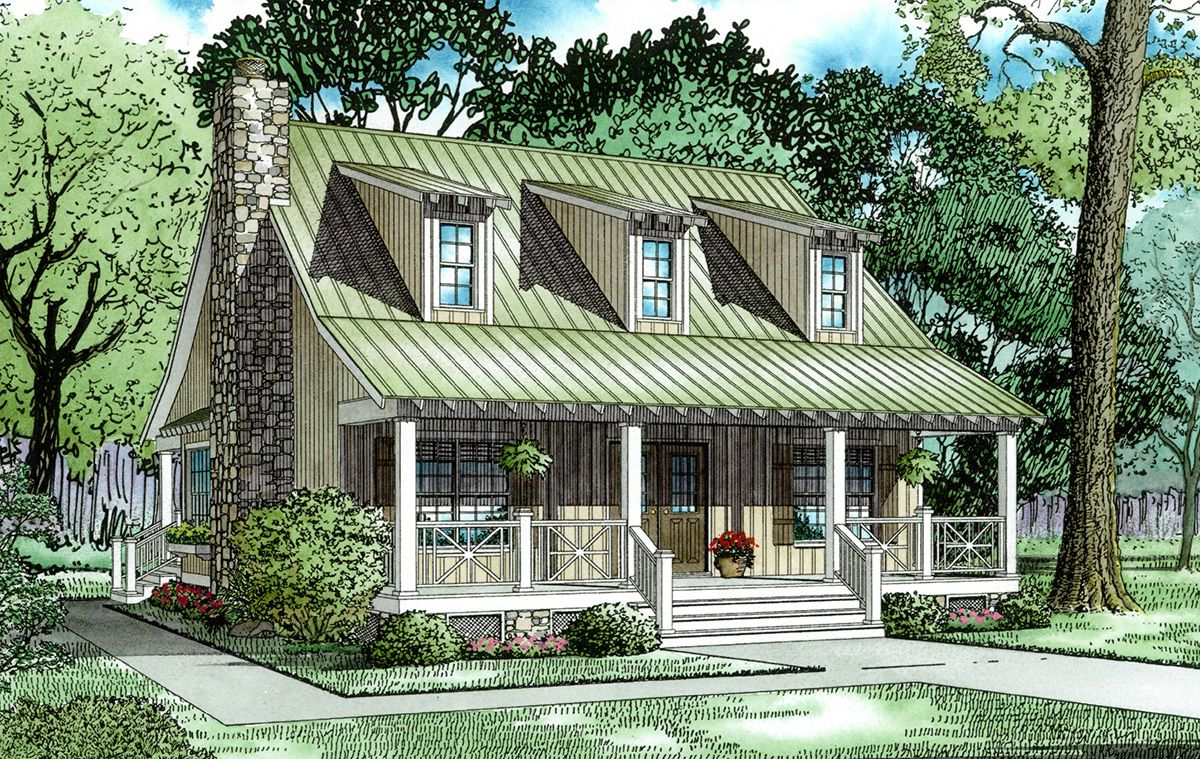 Plan 59152nd Unique Cabin Cottage Country Style House Plans Vacation House Plans Cottage House Plans
