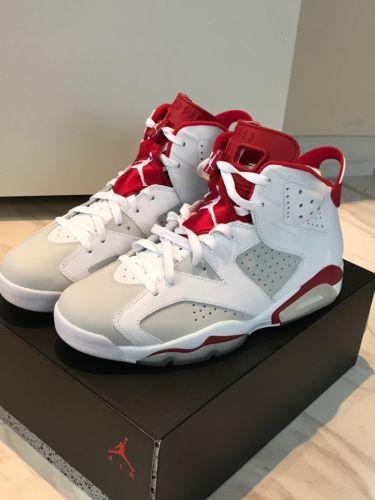 2ff0241dca10 NEW Nike Air Jordan 6 Retro VI W Reciept Alternate White Pure Platinum Gym  Red
