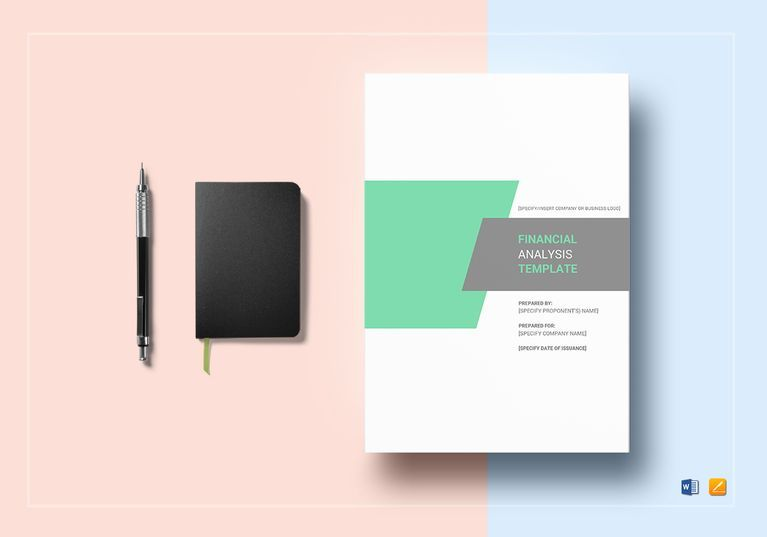 Financial Analysis Template $35 Formats Included  MS Word, Pages - financial analysis template
