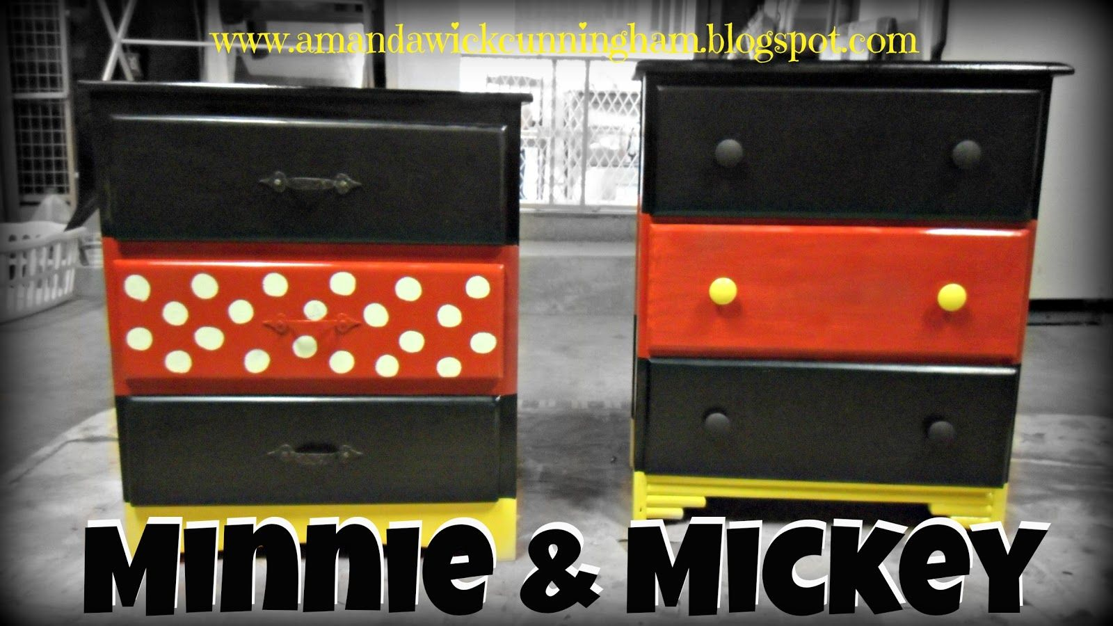 Diy Mickey And Minnie Dressers Mickey Mouse Room Mickey Mouse