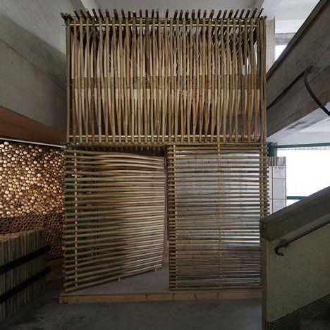 micro logements en bambou sign s affect t entree micro. Black Bedroom Furniture Sets. Home Design Ideas