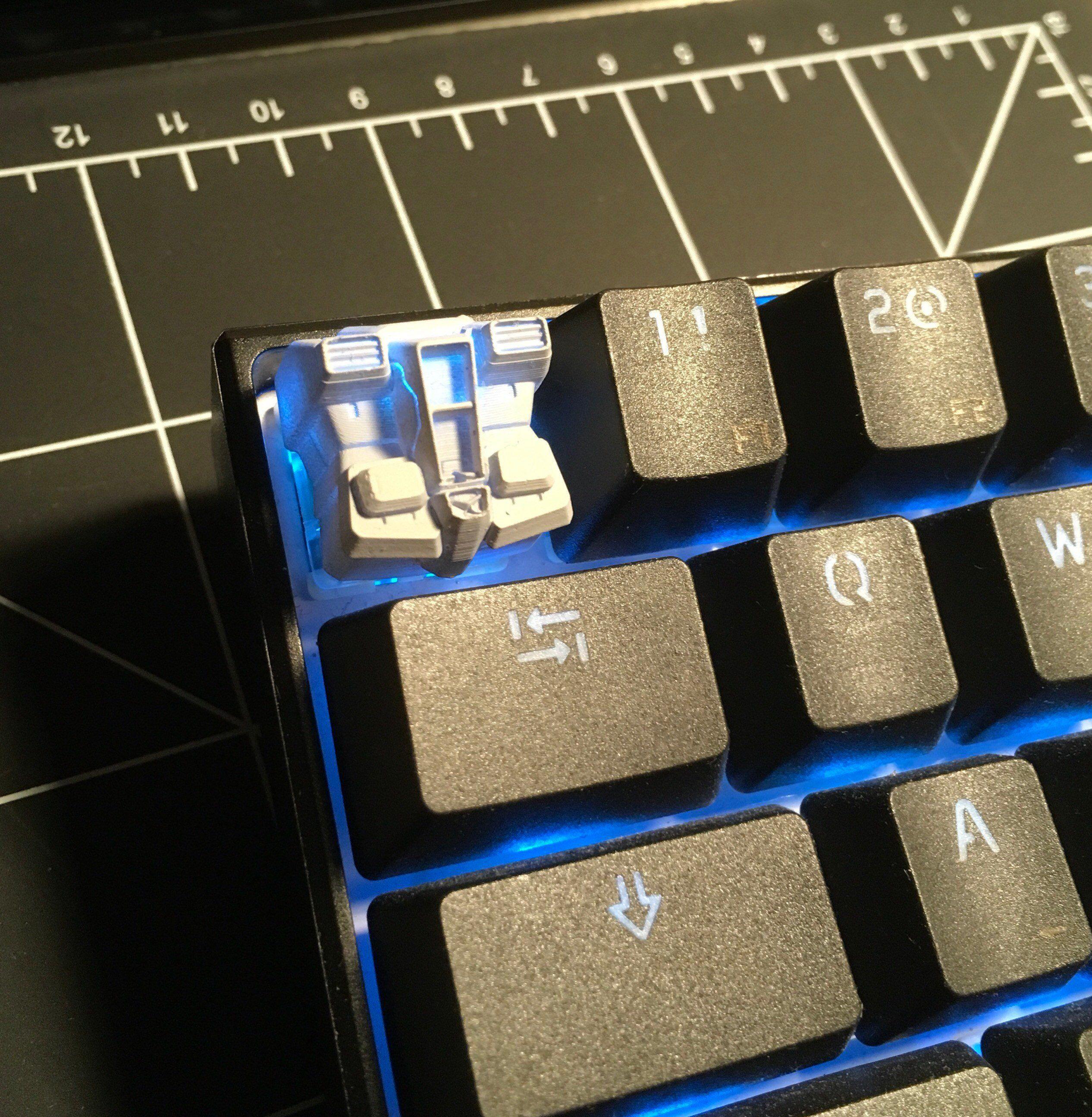 Gundam RX-78 Cherry MX Keycap #polylootxyz #makerlife