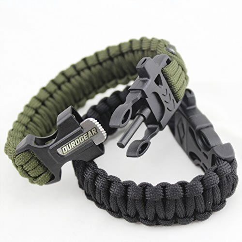 Duro Gear Survival Paracord Bracelet With Fire Starter Magnesium