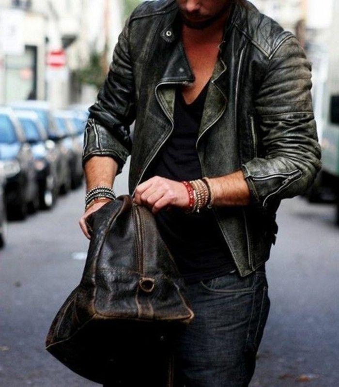 Comment porter la veste en cuir homme