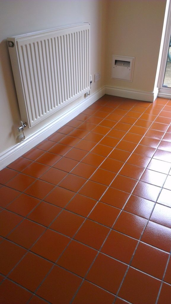 Quarry Tile After Restoration2 Quarry Flooring Pinterest