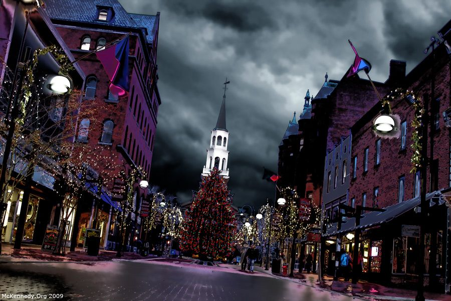 Church Street In Burlington Vermont One Of The Best Places In - Best places to vacation at christmas time