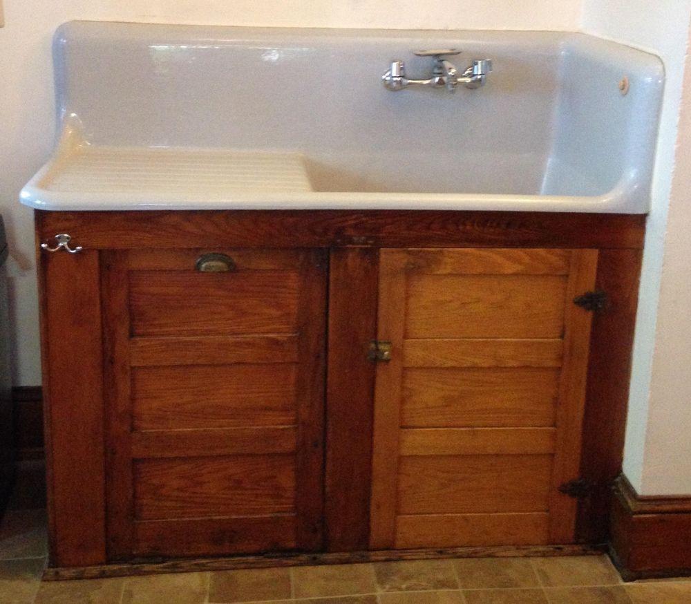 Antique American Standard Cast Iron Porcelain 52 Kitchen Farm Sink Sink Farm Sink Farmhouse Sink Kitchen