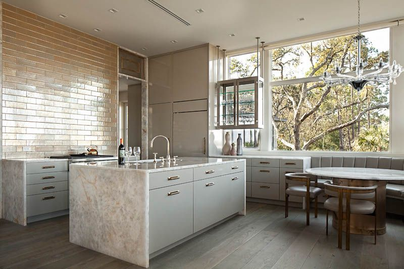 We loved working on this serene contemporary kitchen in ...