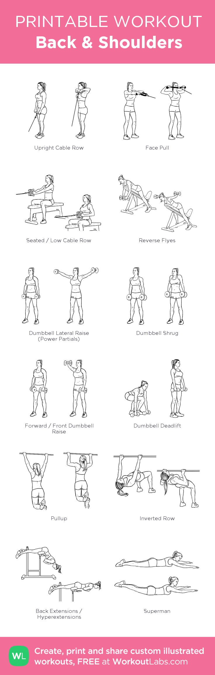 Back  · Free workout by WorkoutLabs Fit