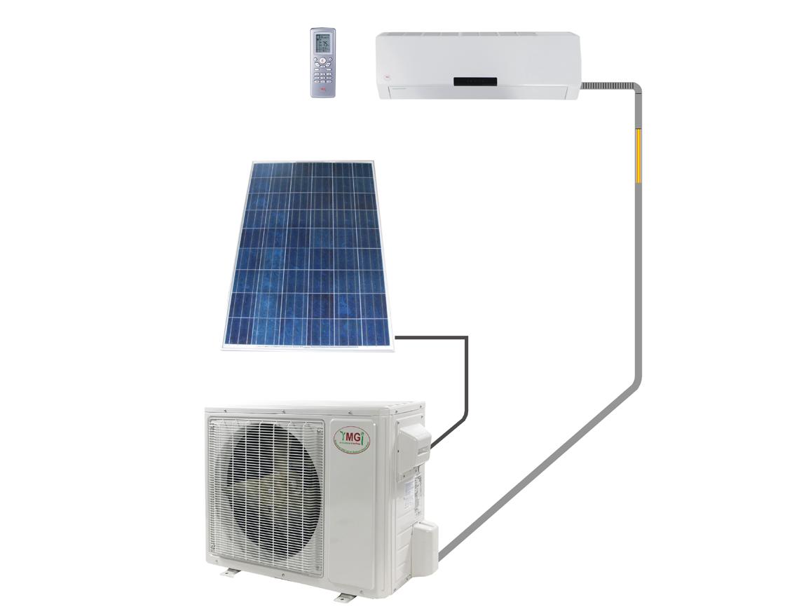YMGI 12000 BTU 220v Solar Assisted Mini Split Heat Pump Up