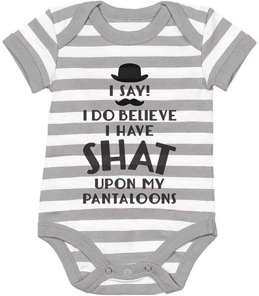 Tstars I Do Believe I Have Shat Upon My Pantaloons Funny Baby Bodysuit Onesie