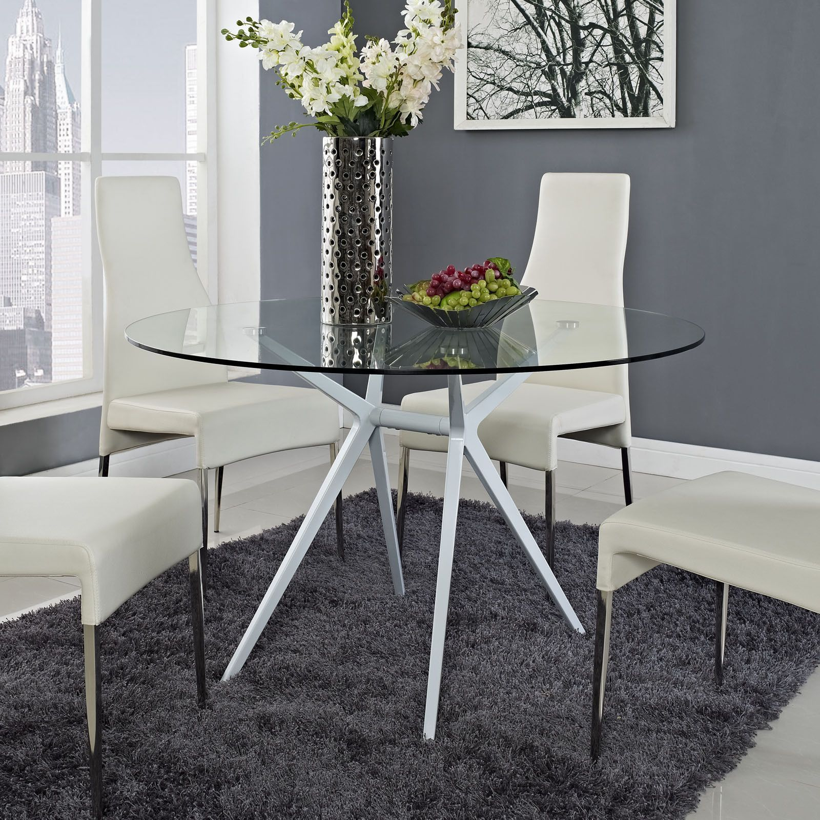 Teak Wood Dining Table White Powder Coated Legs White: Add A Touch Of Modernity To Your Home Decor With This