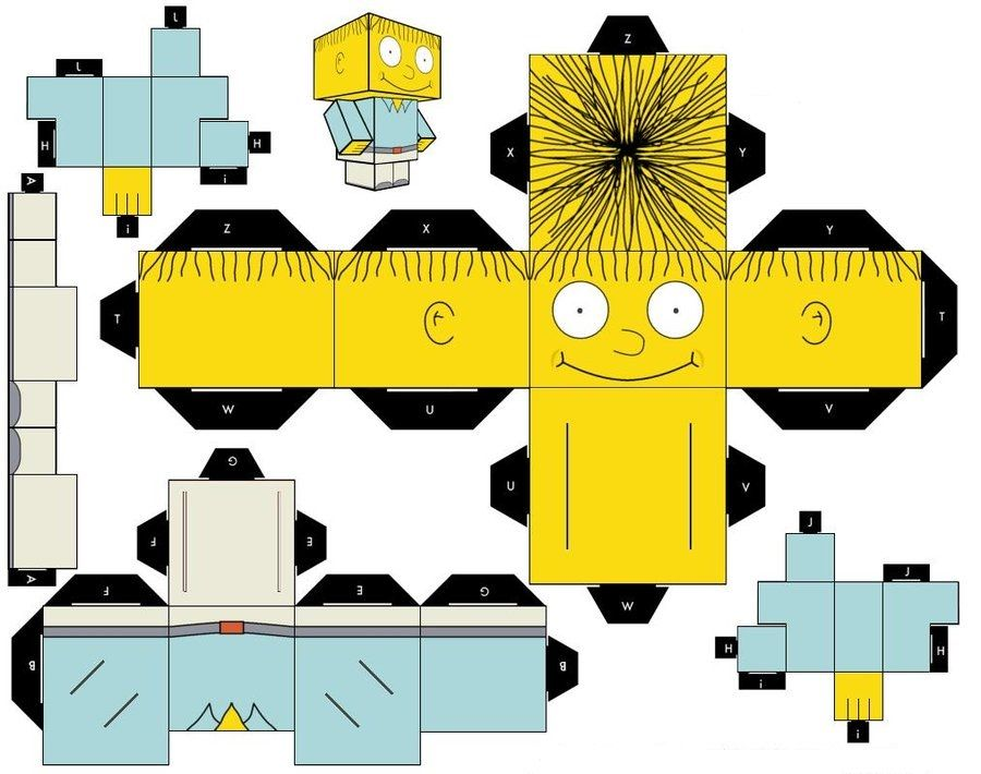 the simpsons characters templates box head 3d figures the