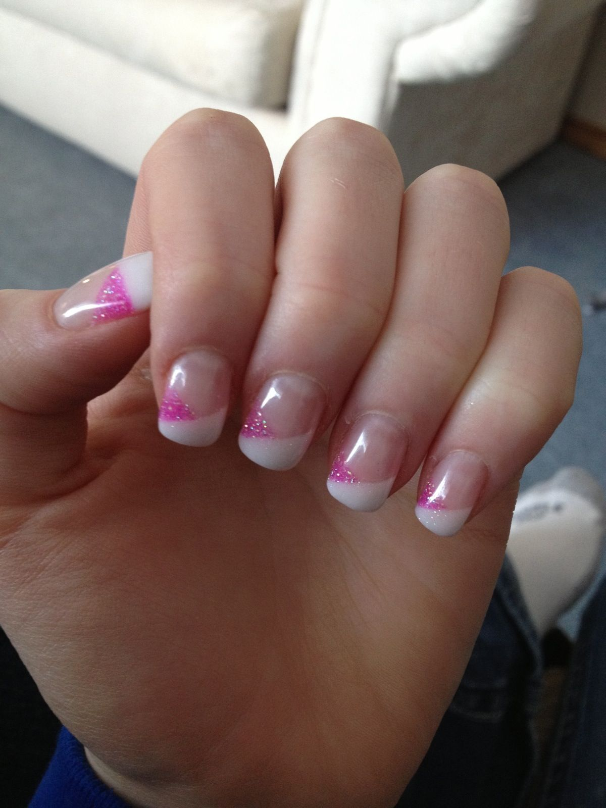 Pink French nails | Nails | Pinterest | French nails, Manicure and ...