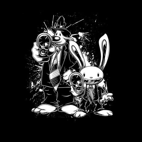 Pulp Fiction   Sam   Max mashup t-shirt. 0b313c5f2