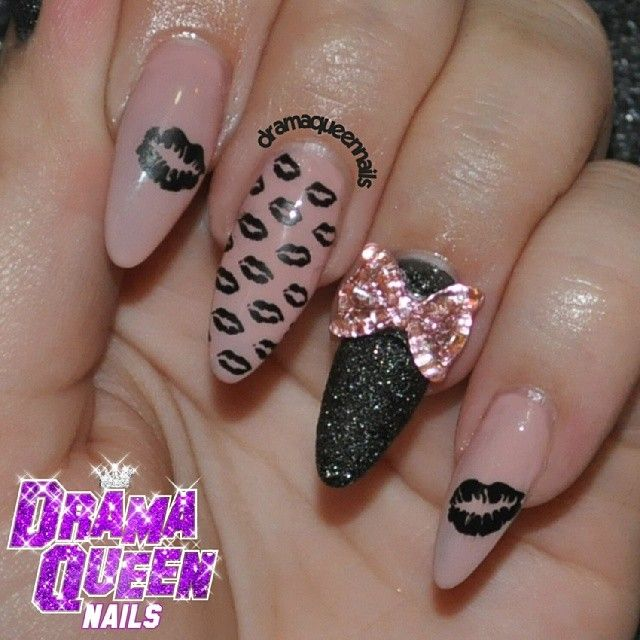 Drama Queen Nails Pucker Up Same 2 Polishes That I Used For My With A Twist Stamped W